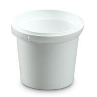 380mL Round Container, Tamper Evidence, colour white